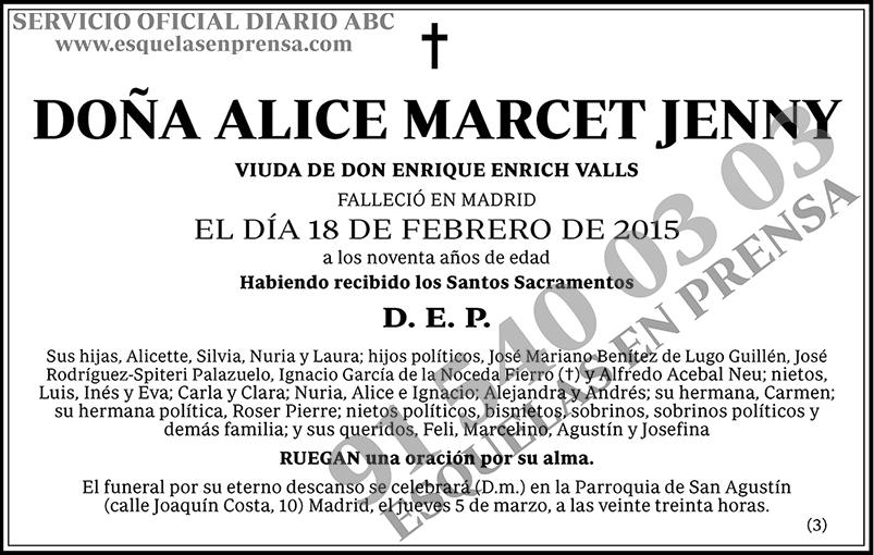 Alice Marcet Jenny